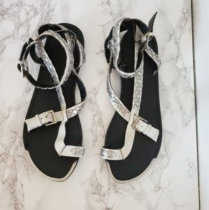 Boutique 9 white gladiator sandle w/ silver studs